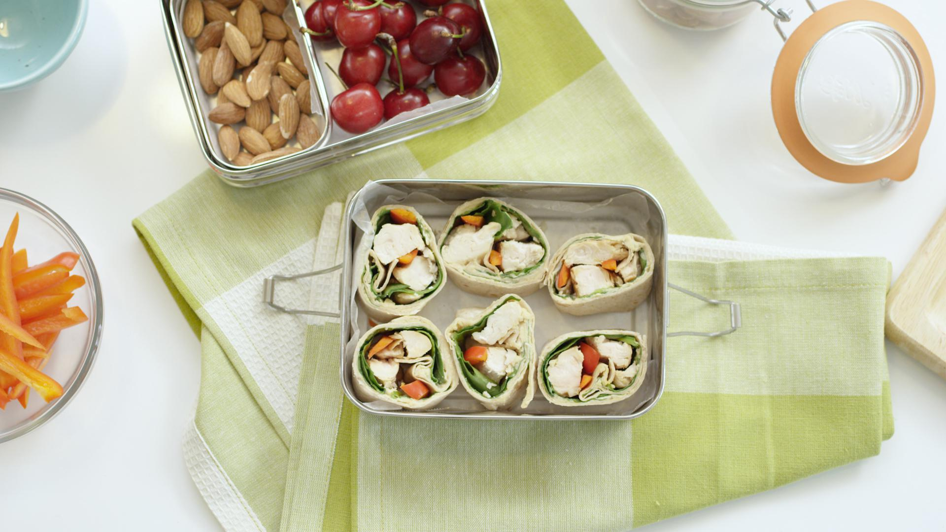 Summery Chicken Roll-Ups