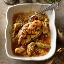 Chicken in Artichoke Tomato Broth