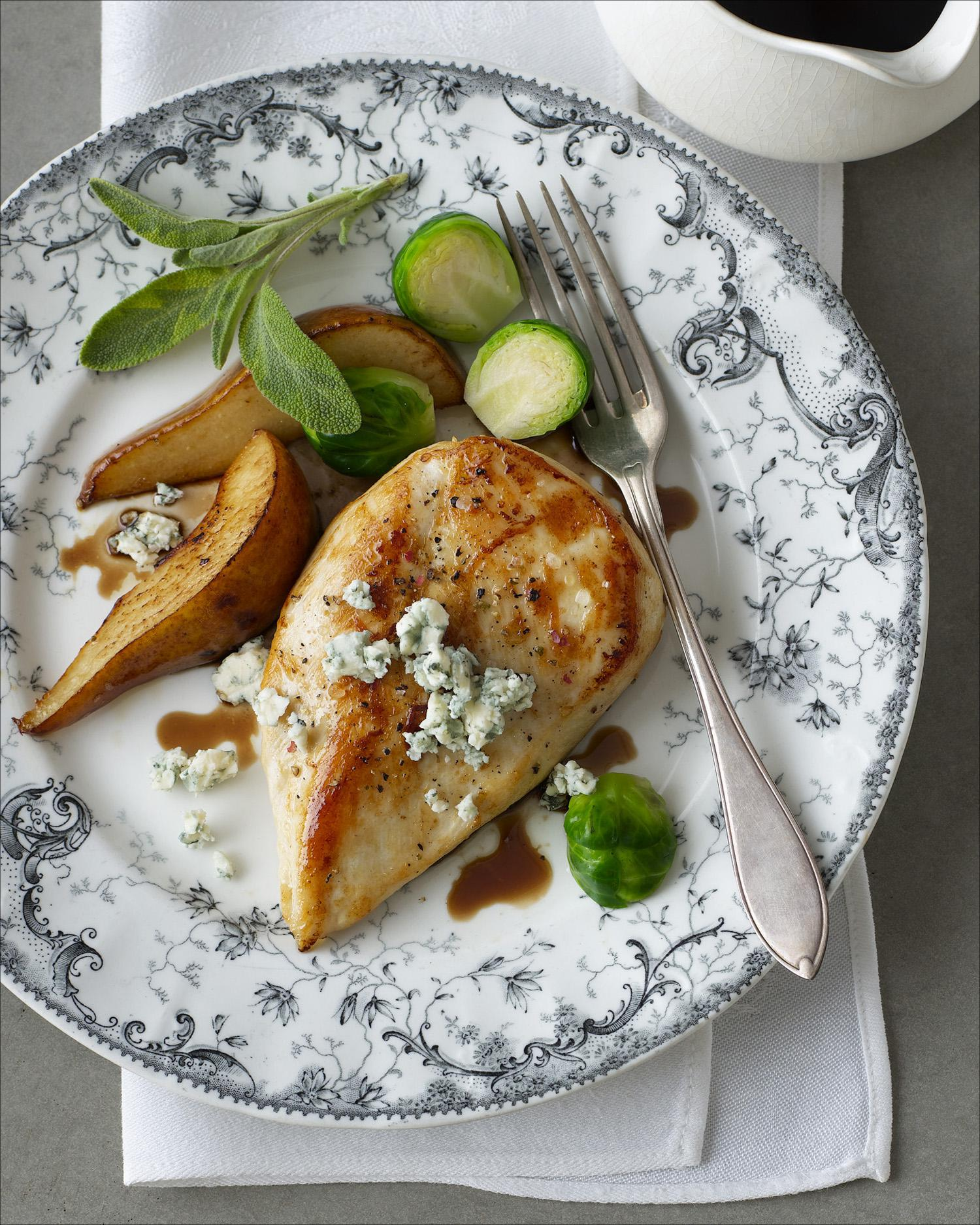 Chicken with Balsamic Syrup & Pears