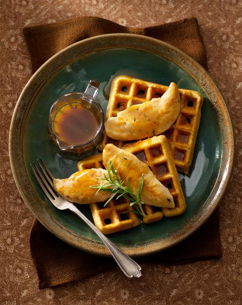 Golden Chicken & Cornmeal Waffles