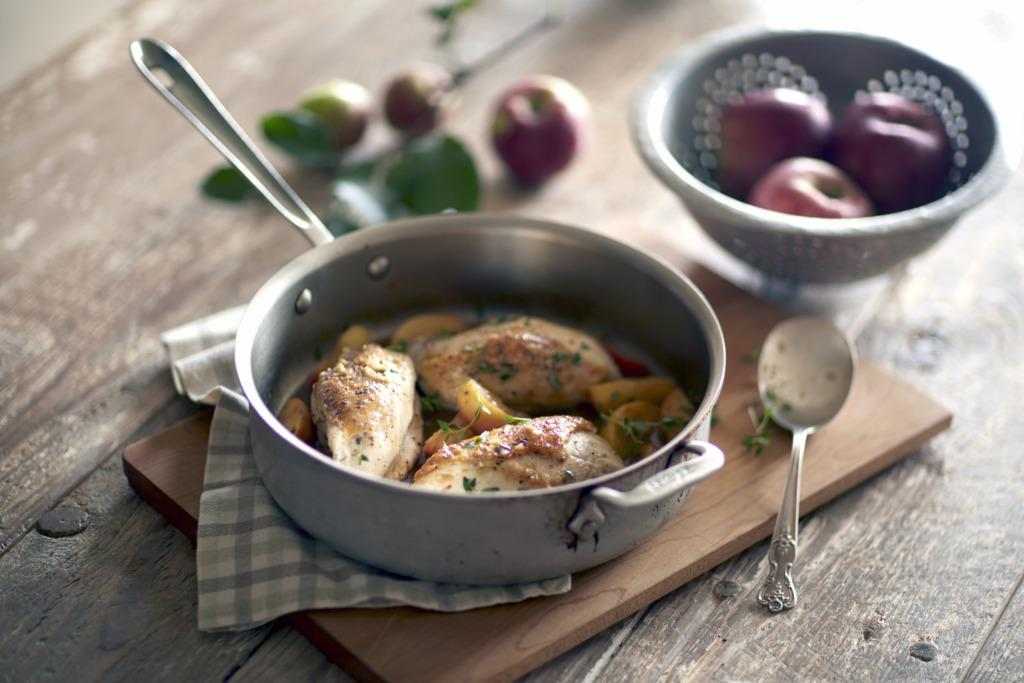 Harvest Cider Glazed Chicken with Sauteed Apples