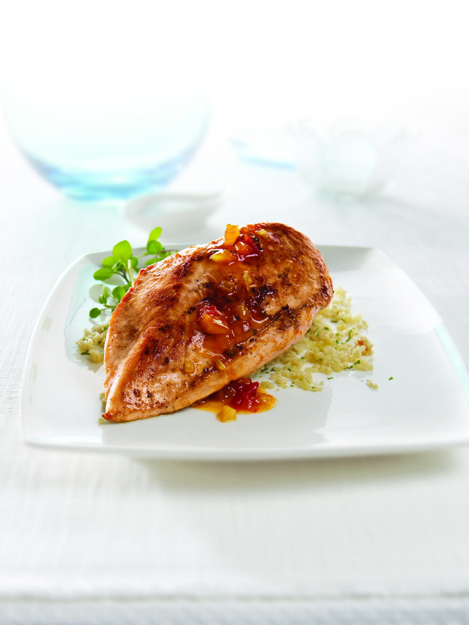 Curried Chicken Breast Fillets with Chutney