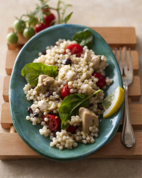 Garlic Chicken & Toasted Couscous Salad