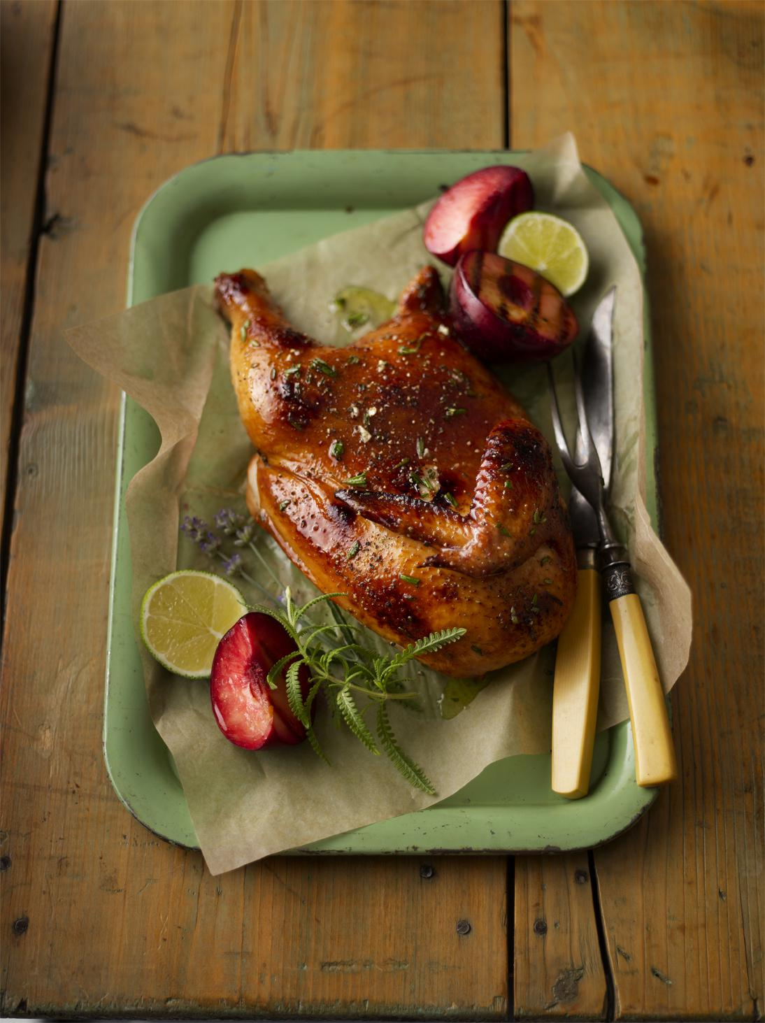 Herbal Honey-Glazed Chicken with Stone Fruit