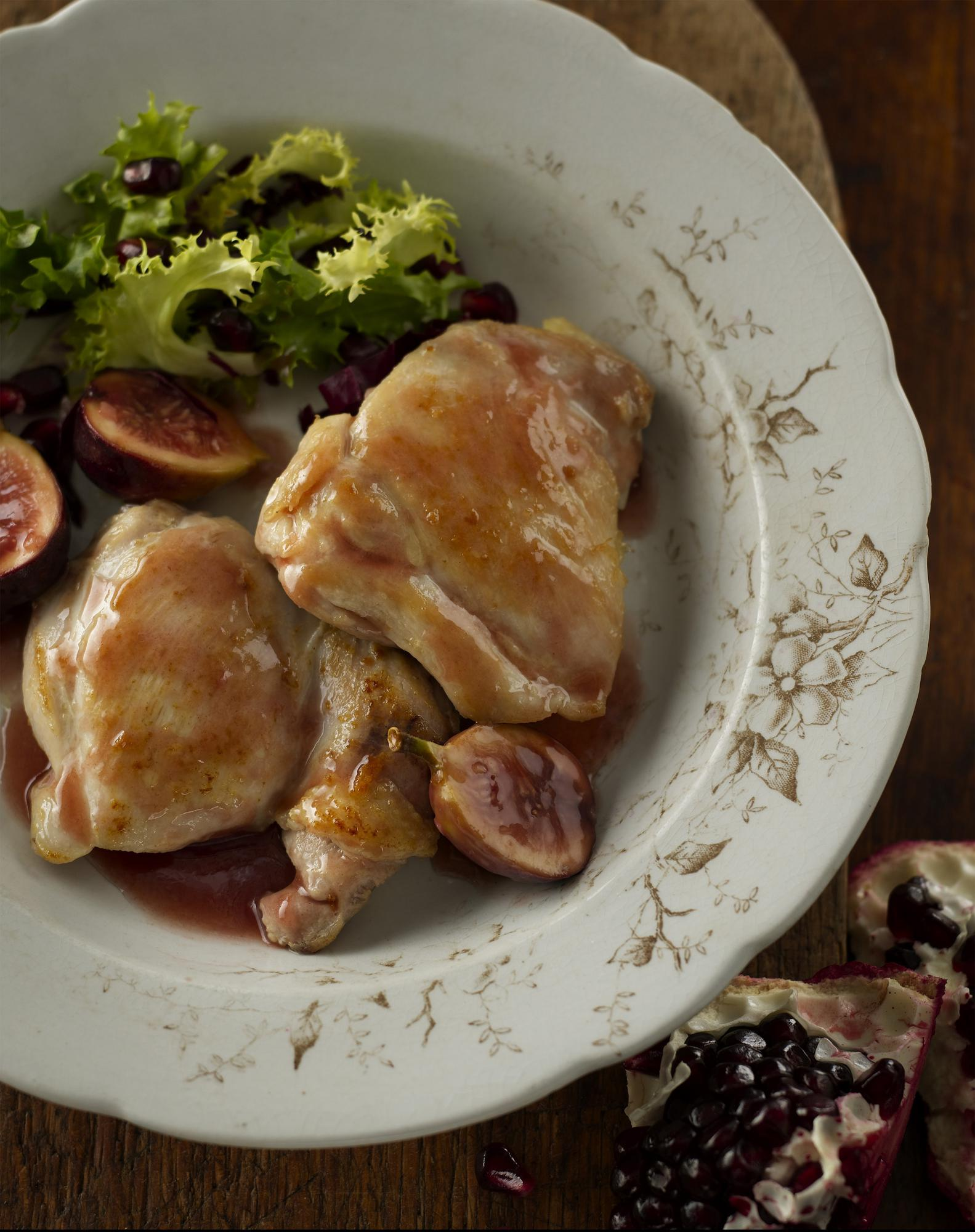 Garnet Chicken with Port & Fig
