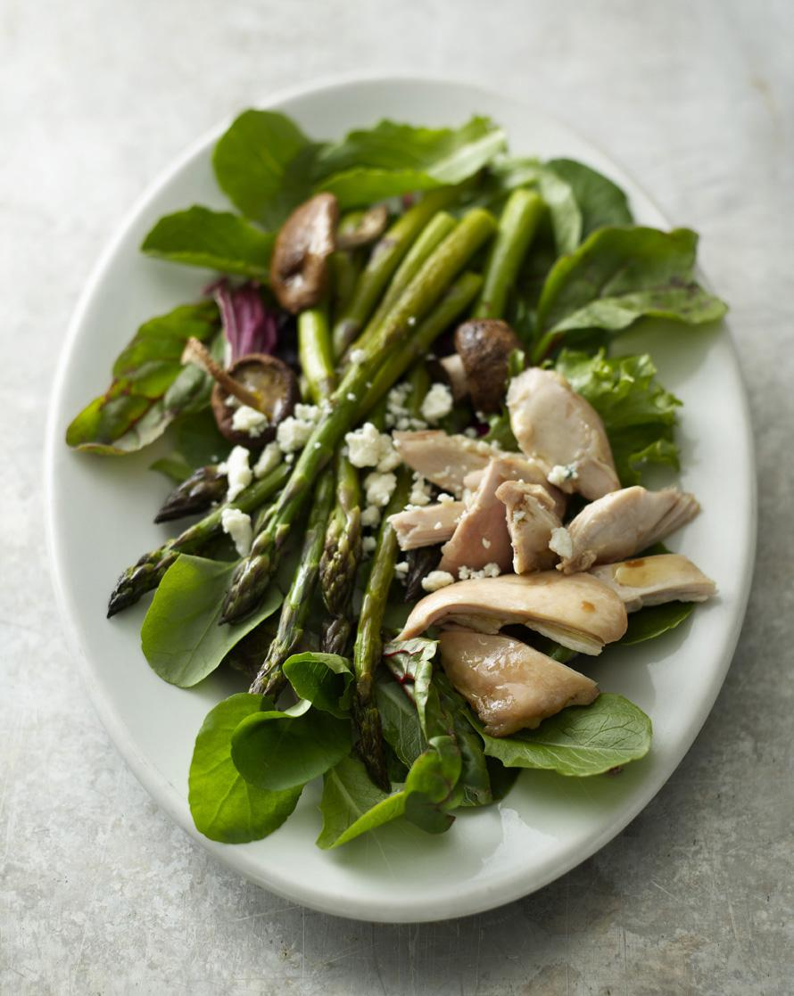Warm Chicken Salad with Roasted Asparagus