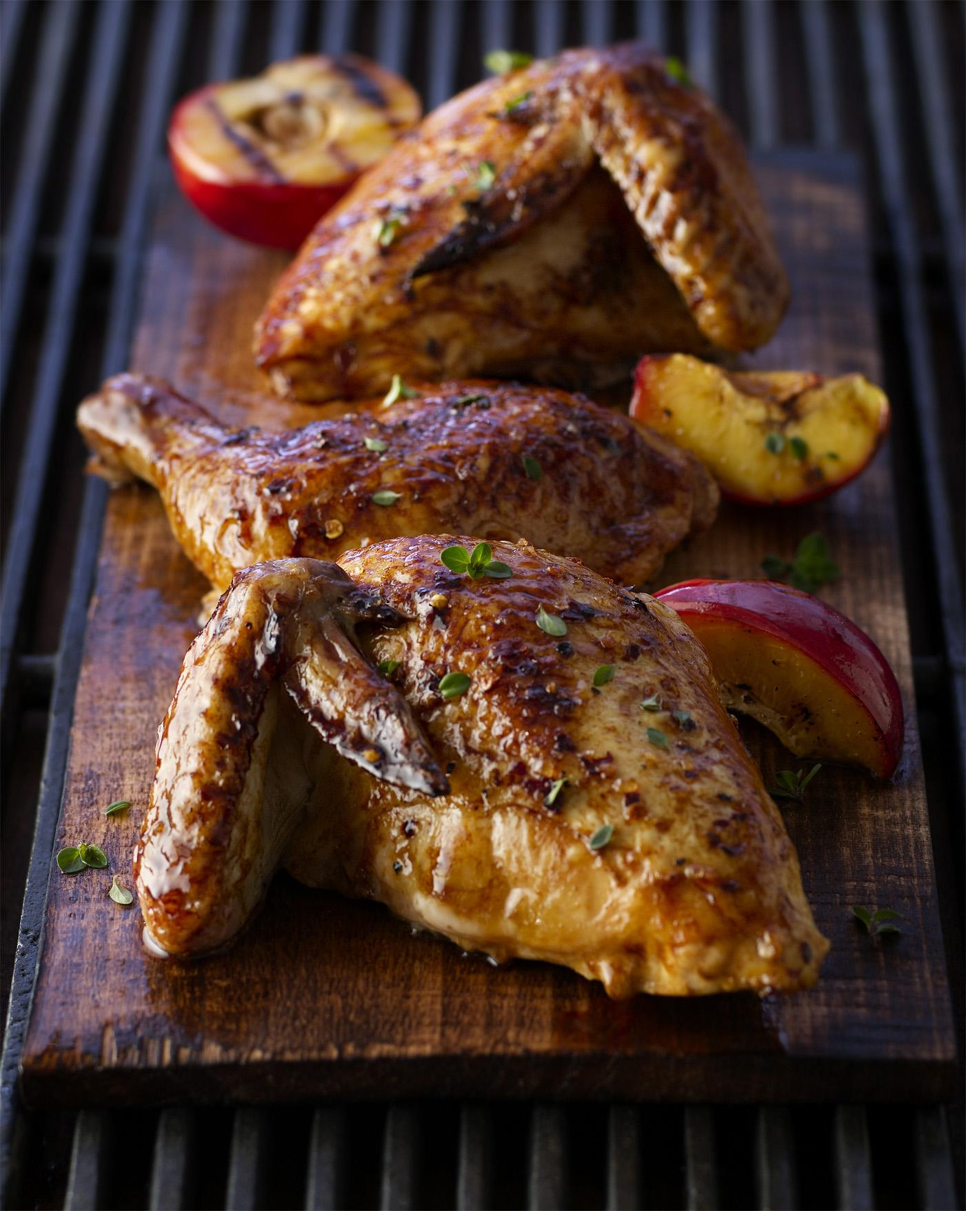 Spice-Brined Planked Chicken