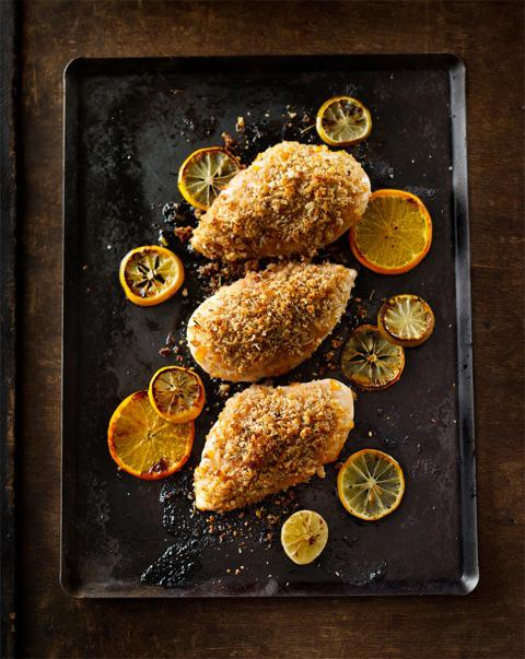 Herb-Crumbed Orange Chicken