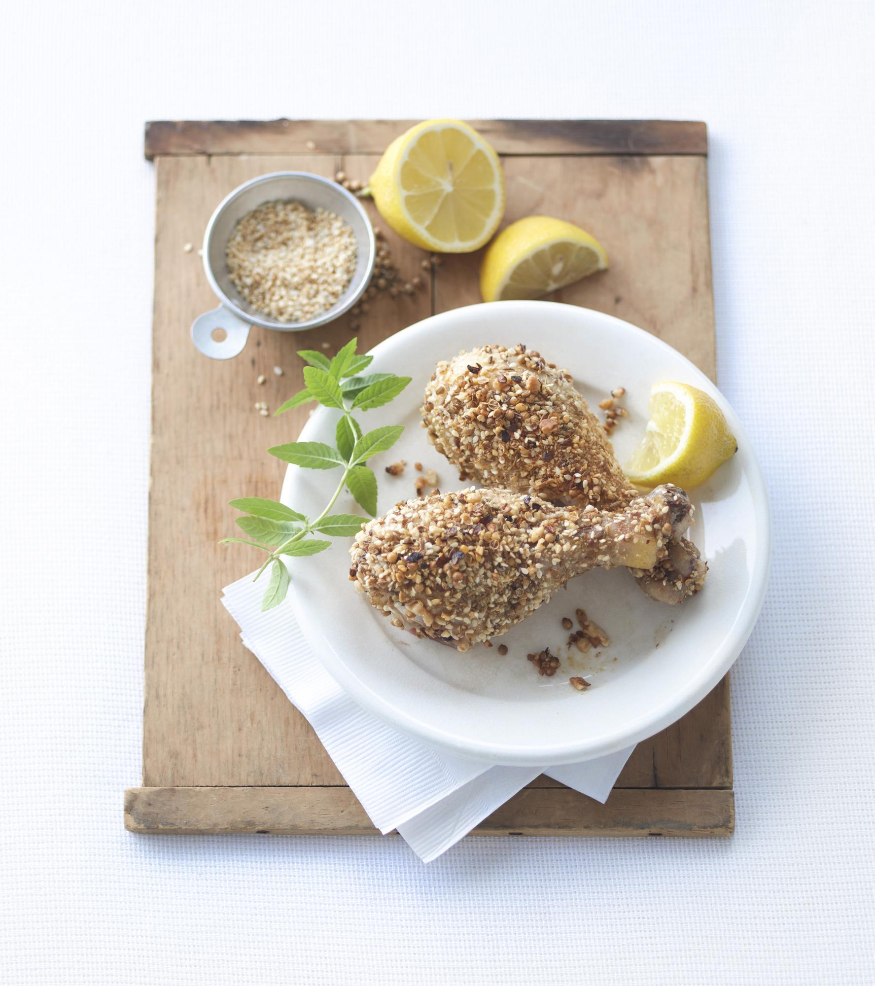 Dukkah-Crusted Roasted Drumsticks