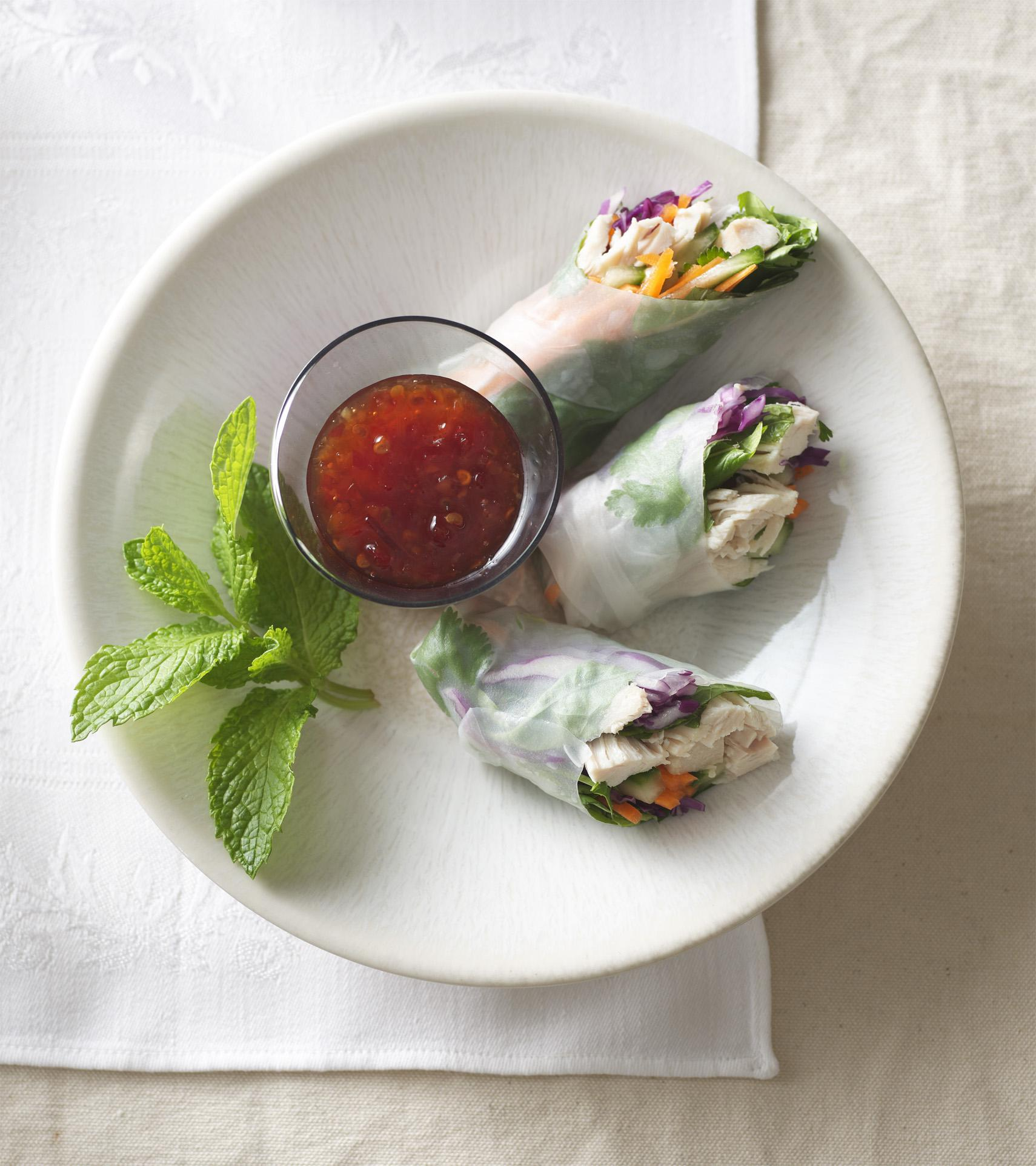 Chicken Sweet Chili Spring Rolls