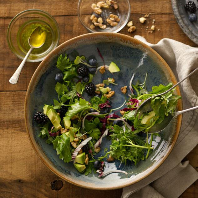 Image for Avocado & Berry Herbal Salad with Roasted Walnuts