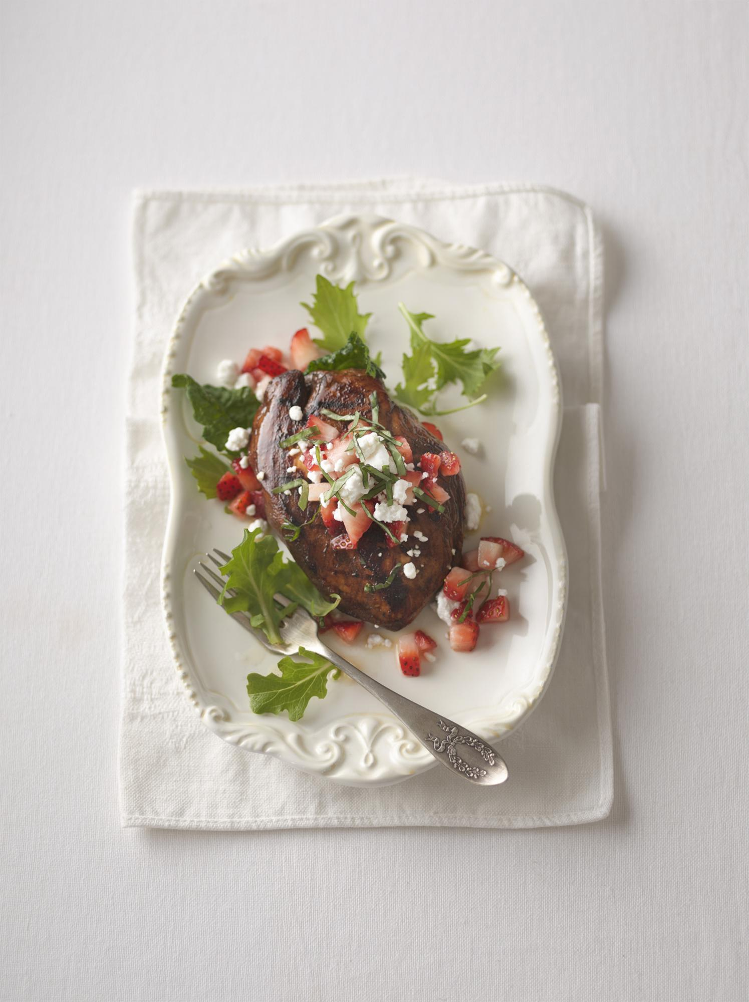 Image for Balsamic Grilled Chicken with Strawberries & Goat Cheese