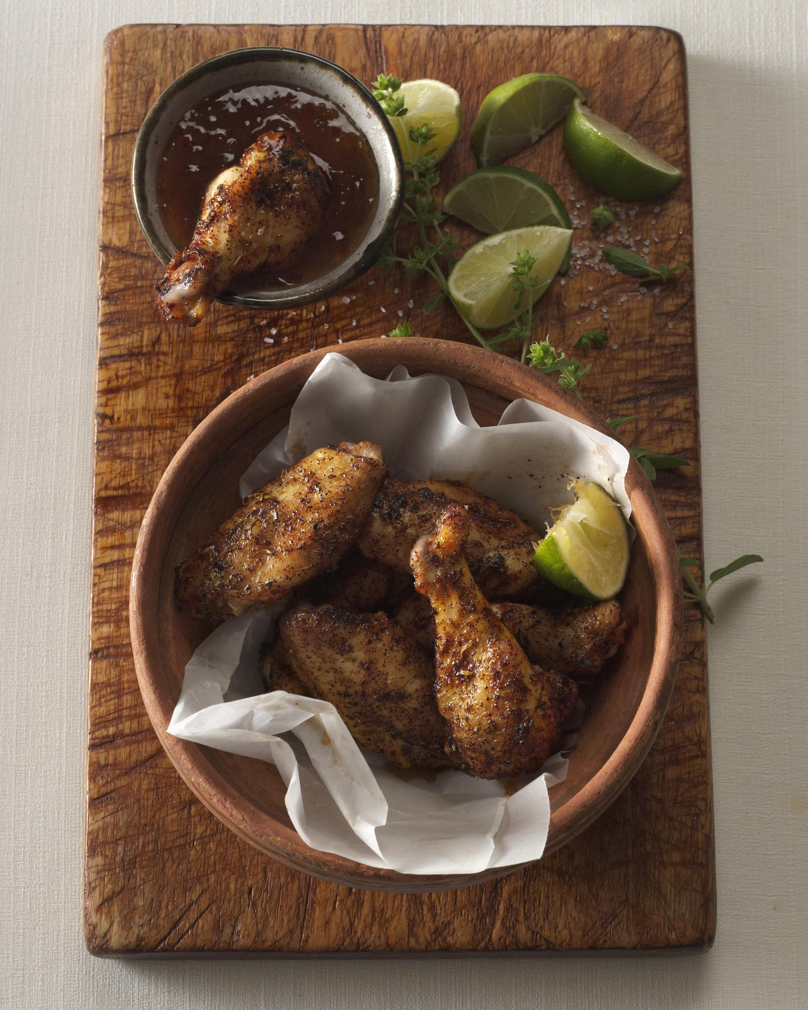 Chipotle-Spiced Honey Garlic Wings with Pepper Jelly Dip