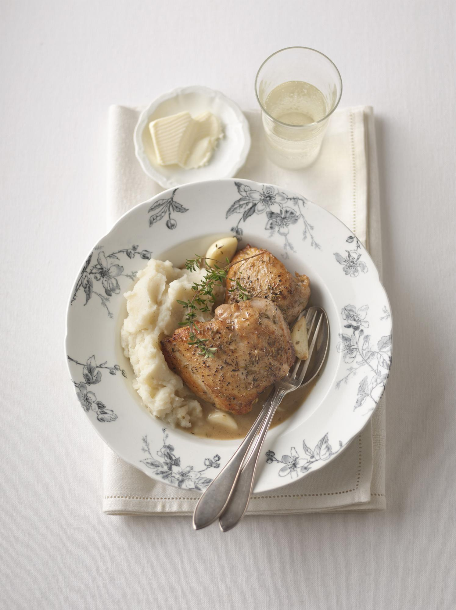 French-Style Garlic Wine Chicken