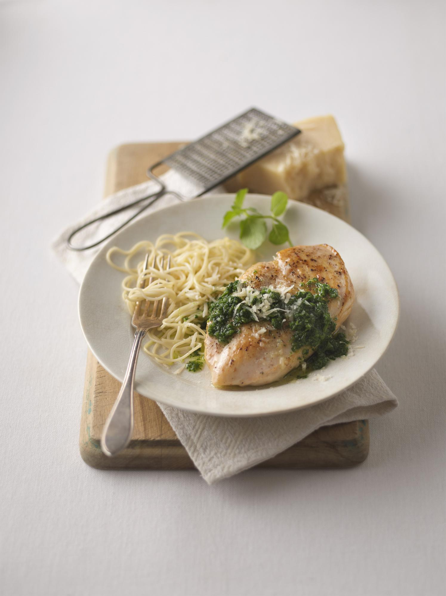 Garlic-Mint Pesto Chicken