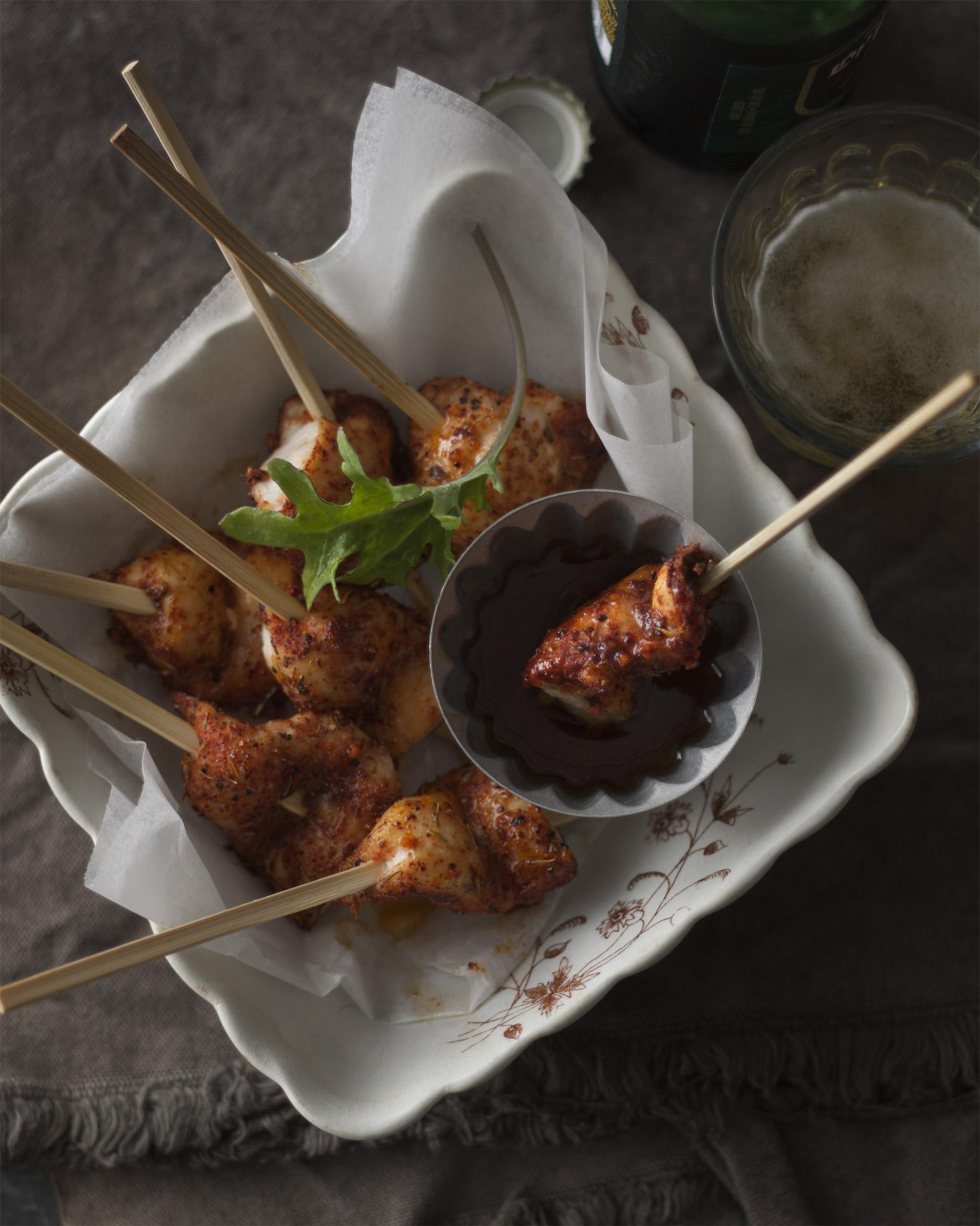 Jerk Chicken Skewers with Smoky Orange Vinaigrette