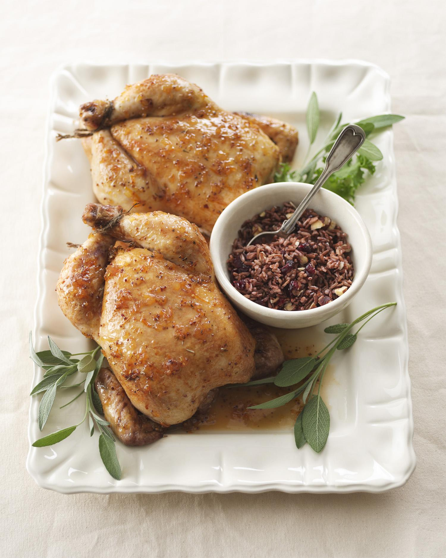 Maple Tangerine Glazed Chickens