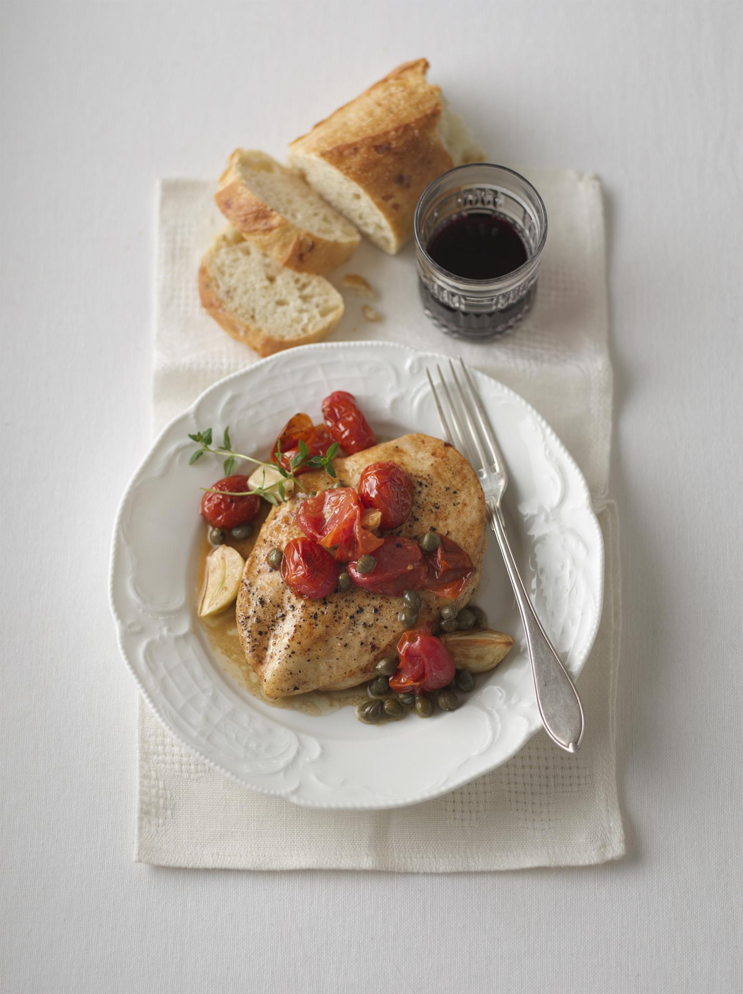 Marsala Chicken with Roasted Garlic & Caramelized Burst Tomatoes (2012 Grand Champion)
