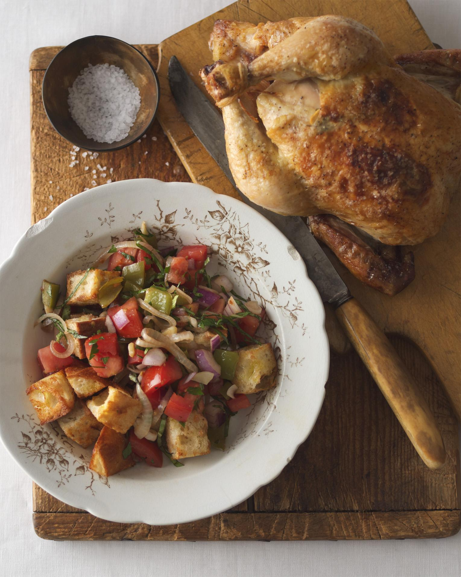 Panzanella Salad with Roasted Chicken