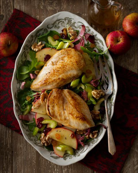 Warm Chicken Waldorf Salad